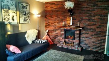 Как молодая семья оформила колоритный интерьер в двухкомнатной квартире