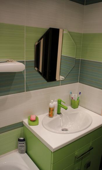 Бюджетный ремонт в ванной комнате молодой семьи