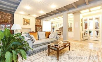 Классическая квартира 78 м² с элементами стиля лофт