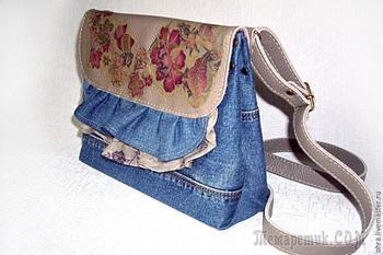 Шьем сумочку из старых джинсов или любой ткани