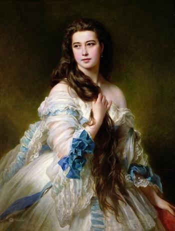 Варвара Римская Корсакова на портрете Ф.К. Винтерхальтера. Красавица России и Франции