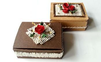 Мастерим подарочную коробку в винтажном стиле