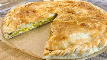 Пирог из тыквы с курицей