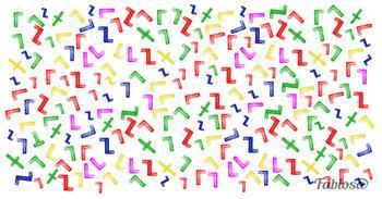 Головоломка: найдите букву T среди множества фигурок