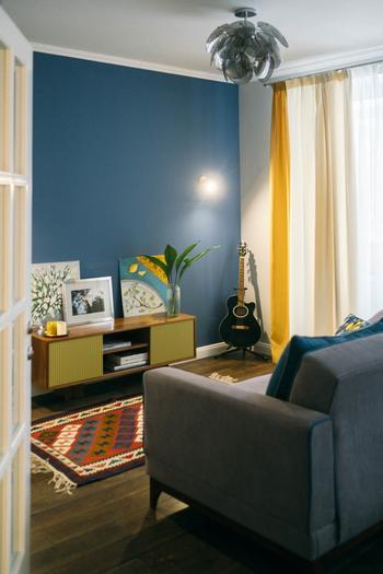 Мужская квартира 50 м² в стиле ретро