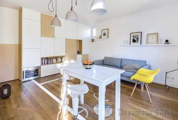 Европейский интерьер: квартира-студия 30 кв. м.