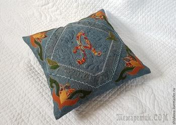 Шьем подушку с именной аппликацией