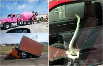 17 курьезных фотографий, герои которых нескоро забудут о том, что случилось с ними в дороге
