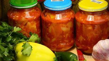 Салат на зиму из кабачков и помидоров – смело готовьте двойную порцию!