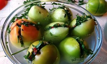 Бесподобные зеленые помидоры по грузински на зиму! Самый вкусный рецепт!