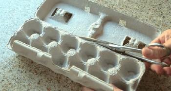 Оригинальные вещички из коробок от яиц