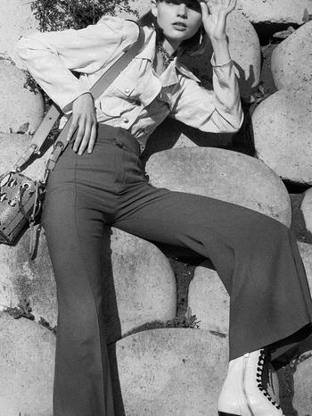 7 новых способов носить брюки на высокой талии