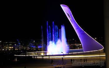 Сочи 2021. Март. 6. Олимпийский парк: Светомузыкальный фонтан - Вечер Венского Вальса