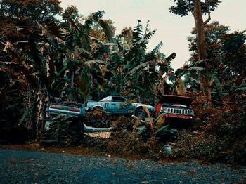 Гавайское кладбище ржавеющих автомобилей