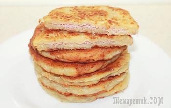 Cырные лепешки за 15 минут - Вкусно и быстро