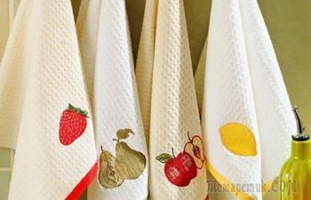 Легко отстирать любые пятна с кухонных полотенец