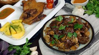 Мягкая и сочная утка. Два блюда из одной утки.