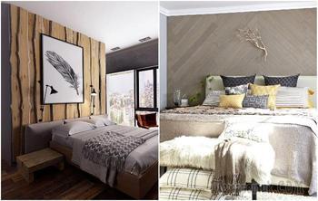Оживление интерьера спальни с помощью дерева: 3 способа создания акцентной стены