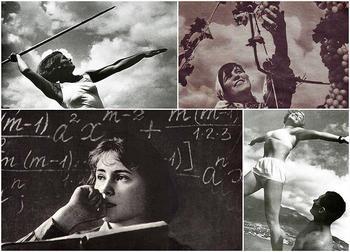 Советская женщина в фотографиях