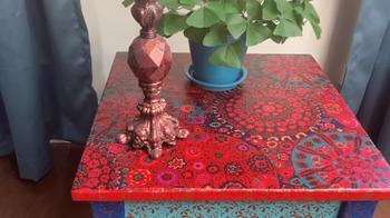 Стильная переделка старого столика