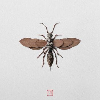 Скульптуры насекомых от Раку Иноуэ