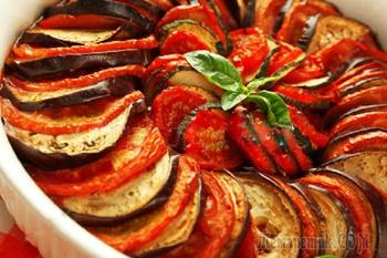 Овощи запеченные в духовке по-французски к Посту - Постное меню