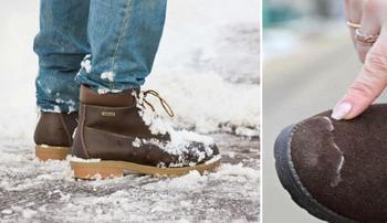 Как спасать свою обувь от соляных разводов, даже если до конца зимы еще далеко