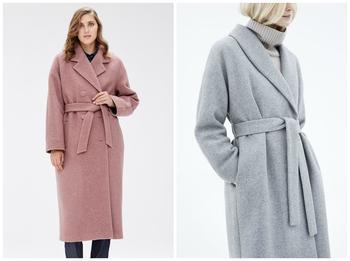 Пальто-халат: кому идет и с чем носить