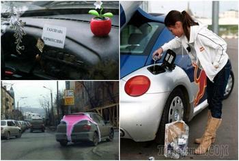 Забавные приключения дам на дорогах, которые кому-то выходят боком