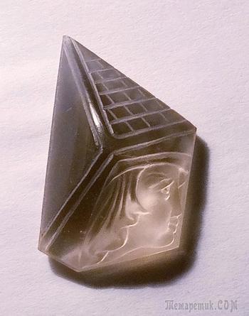 """Камея """"Египтянка"""", раухтопаз, 34х21х11 мм."""