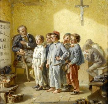 Школа, учителя и ученики на полотнах старых мастеров: Как учили детей 200 лет тому назад