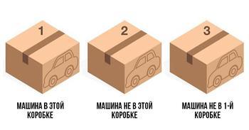 Головоломка: в какой коробке машинка?