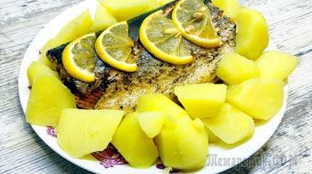 Пикантная горбуша с лимоном в духовке