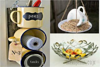 Превращение старой кухонной утвари в стильные предметы интерьера