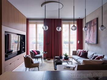 Минимализм в интересной гамме: современная квартира в Москве