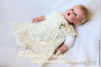 Ажурное платье-туника для девочки своими руками