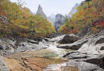 Корейская живопись. Чхве Ён Голь - Choi Yong Geol (최영걸). Республика Корея
