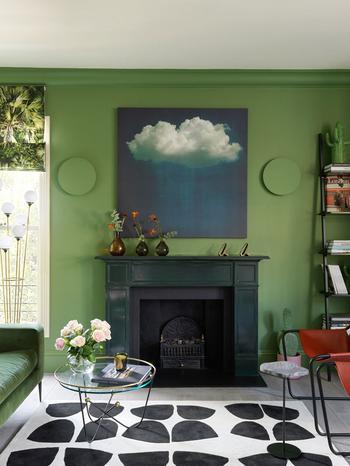 Весенний зеленый в интерьере квартиры в Лондоне по проекту российского дизайнера (85 кв. м)