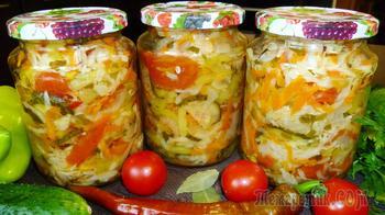 """Овощной салат на зиму """"Кубанский"""""""