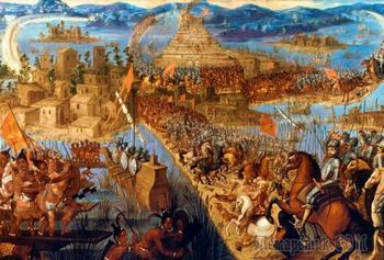 Эрнан Кортес: жестокое завоевание империи ацтеков
