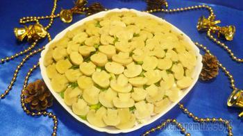 """Праздничный салат """"Золотое руно"""""""