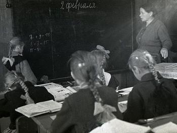 Деревенская советская школа 1964 года