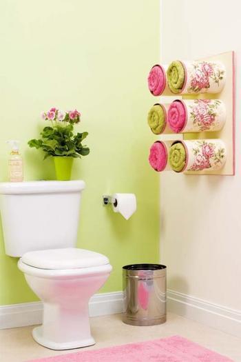 Идея для туалета и ванной. Декупаж по жестяным банкам