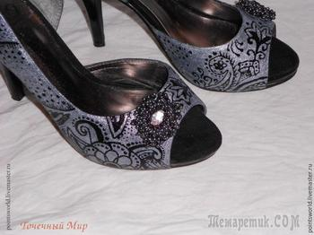 Обновляем замшевые туфли: делаем оригинальную роспись