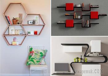 17 великолепных идей дизайна современных полок