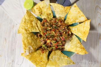 Гуакамоле с чипсами из лаваша! Прекрасная закуска для большой компании!