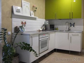 Однокомнатная квартира в зеленых тонах