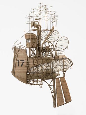 Картонные дирижабли и аэропланы: стимпанк-модели от голландского дизайнера