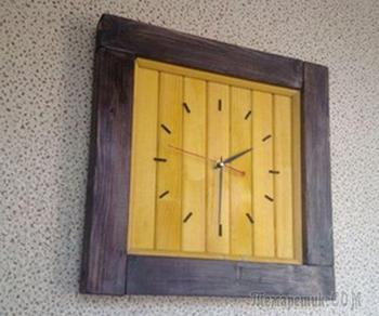 Делаем своими руками настенные часы «Обыкновенные» в деревенском стиле