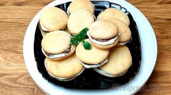 Бисквитное пирожное с нутеллой и творожно - сливочной начинкой